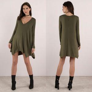 🌟SALE🌟 Tobi Olive Sharkbite Hem Dress